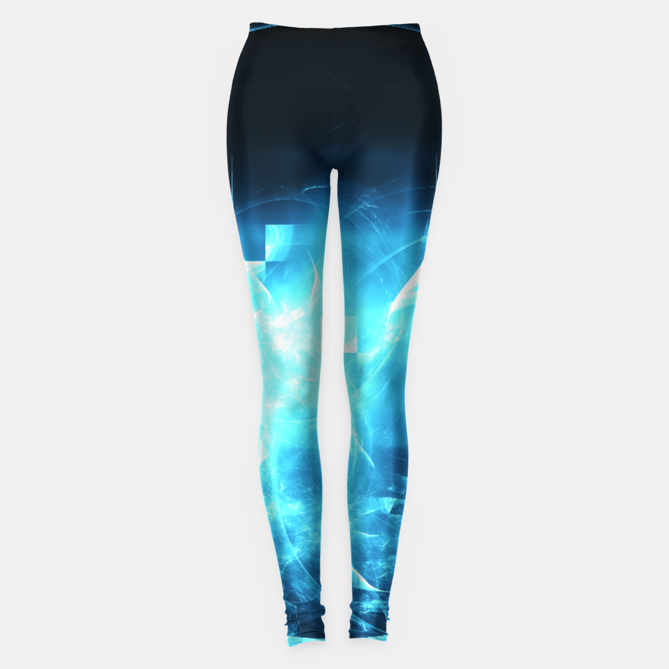 Image of As cold as ice Abstract Fractal Art Design Leggings - Live Heroes