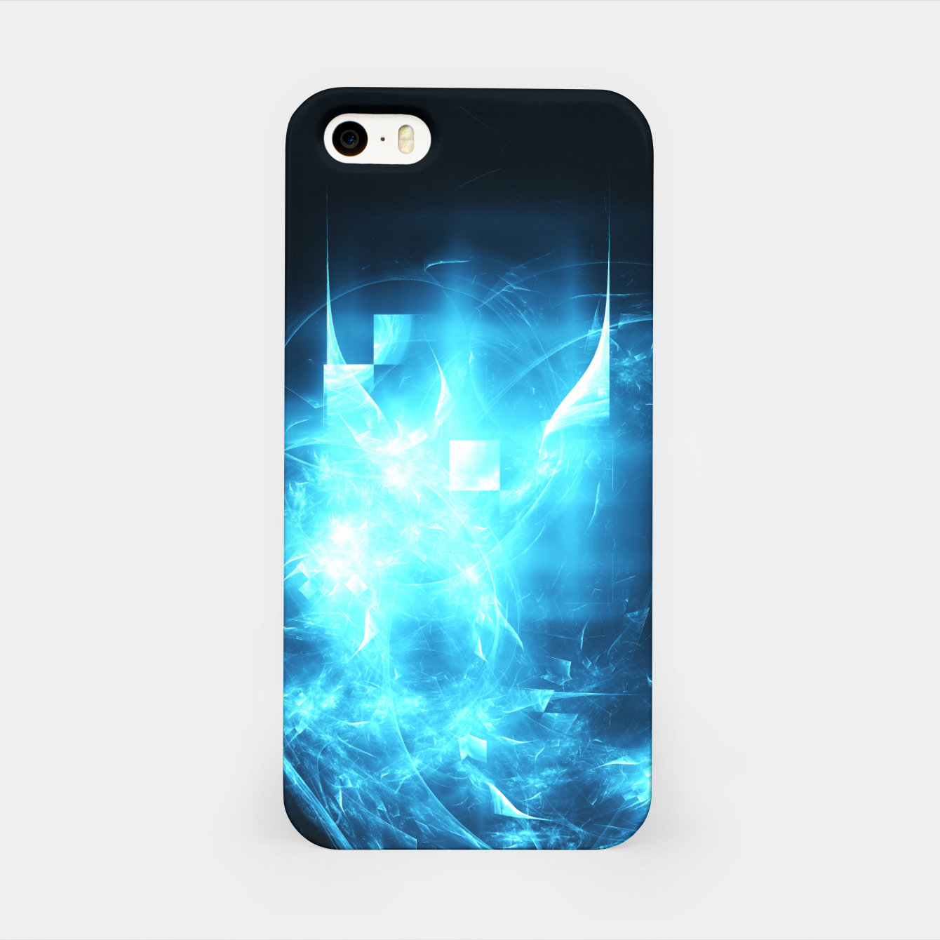 Image of As cold as ice Abstract Fractal Art Design iPhone Case - Live Heroes