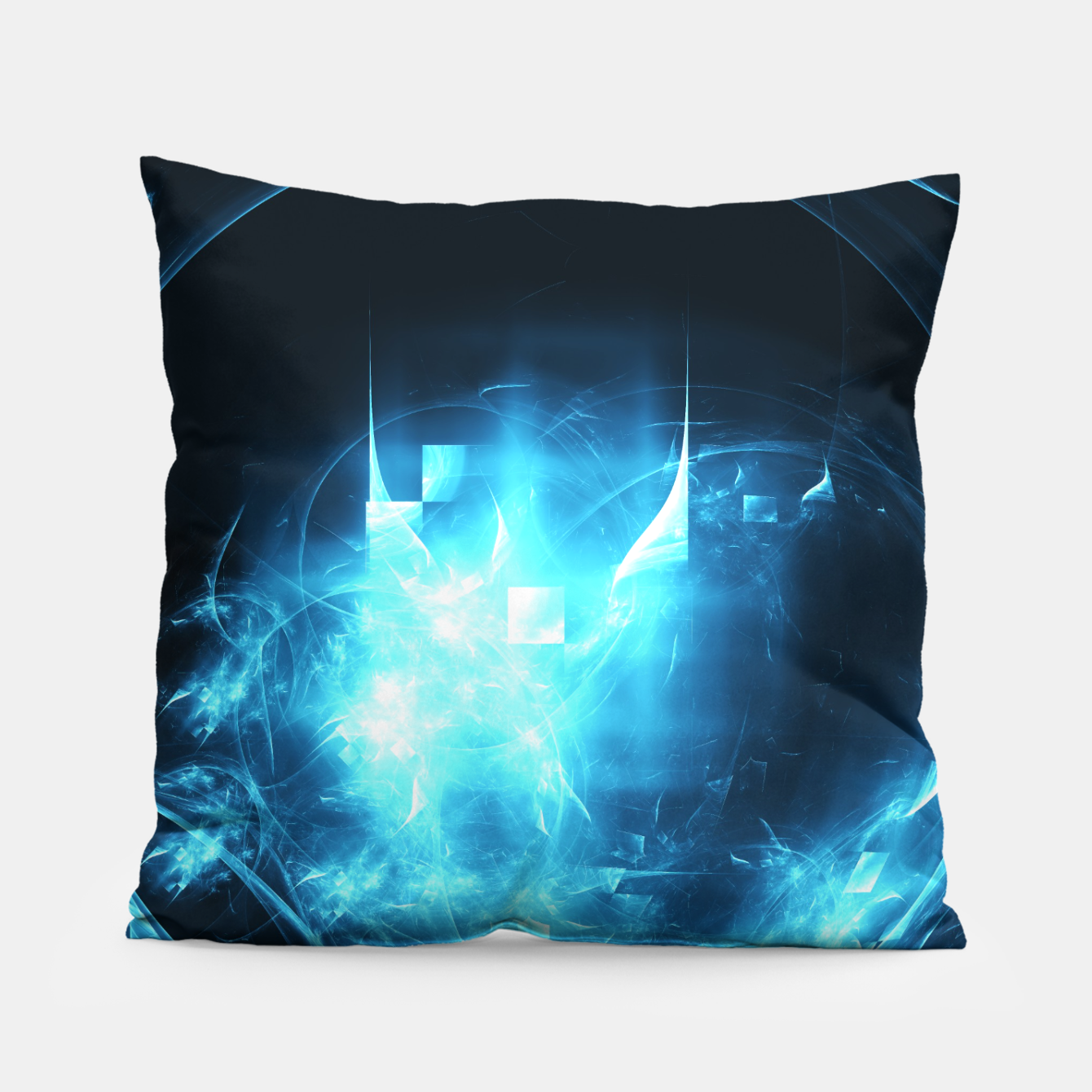 Image of As cold as ice Abstract Fractal Art Design Pillow - Live Heroes