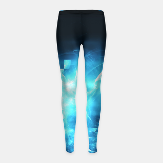 As cold as ice Abstract Fractal Art Design Girl's leggings thumbnail image