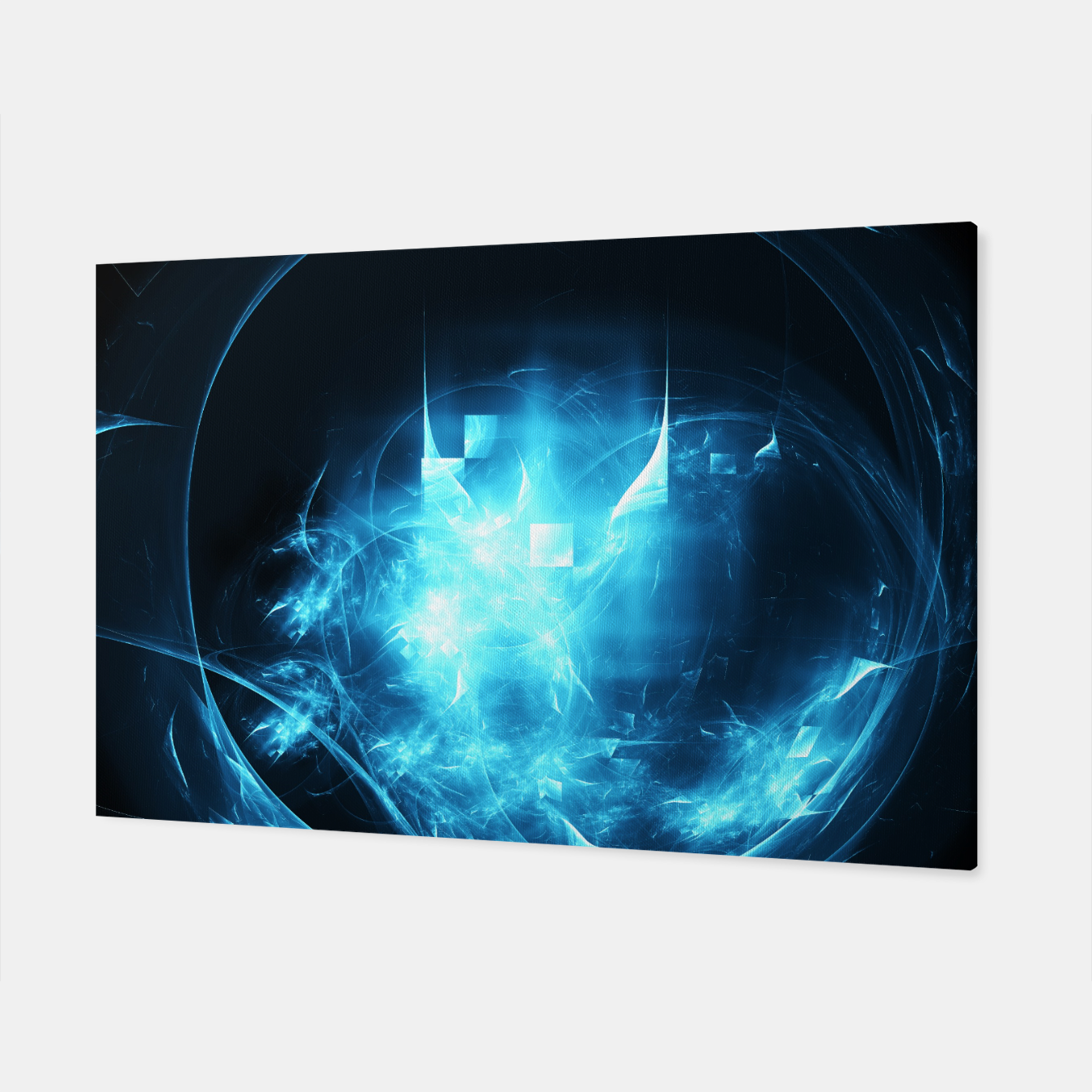 Image of As cold as ice Abstract Fractal Art Design Canvas - Live Heroes