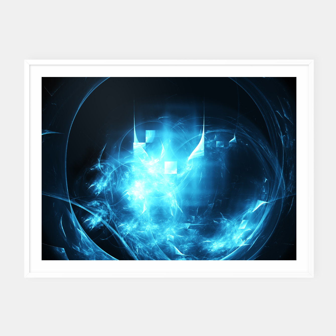 Image of As cold as ice Abstract Fractal Art Design Framed poster - Live Heroes