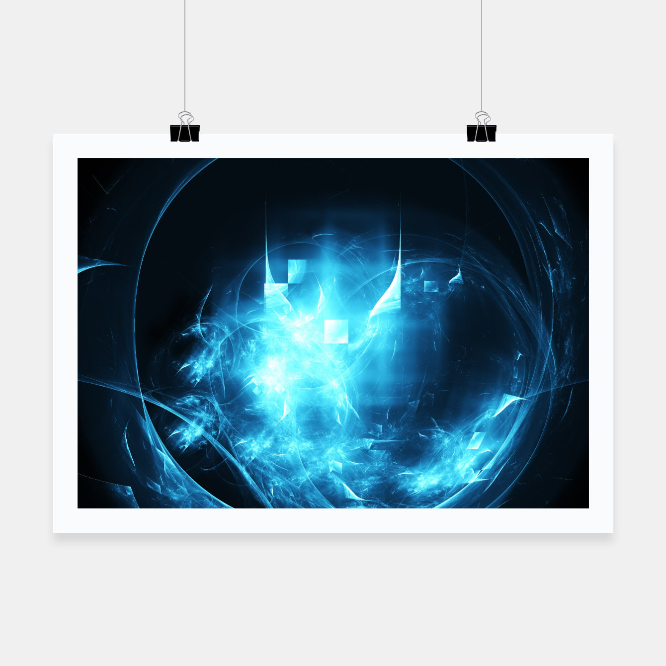 Image of As cold as ice Abstract Fractal Art Design Poster - Live Heroes