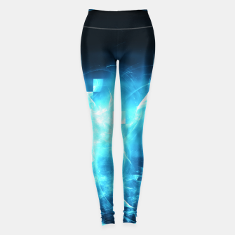 As cold as ice Abstract Fractal Art Design Leggings thumbnail image