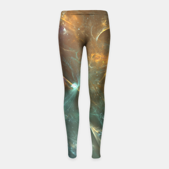 Imagen en miniatura de Galactic Apocalypse Abstract Fractal Art Design Girl's leggings, Live Heroes