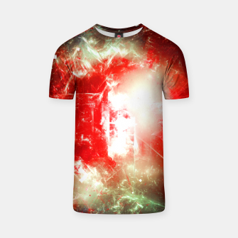 Miniatur Shattered Space Abstract Fractal Art Design T-shirt, Live Heroes
