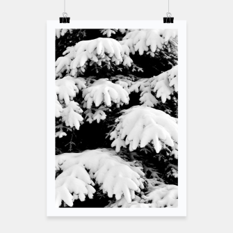 Miniatur Snow-covered fir tree  Poster, Live Heroes
