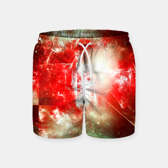 Imagen en miniatura de Shattered Space Abstract Fractal Art Design Swim Shorts, Live Heroes