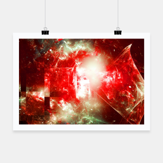 Miniatur Shattered Space Abstract Fractal Art Design Poster, Live Heroes