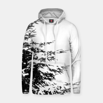 Miniatur Fir Tree Covered With Snow Hoodie, Live Heroes