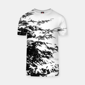 Miniatur Fir Tree Covered With Snow T-shirt, Live Heroes