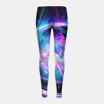 Imagen en miniatura de Through the Viewfinder Abstract Fractal Art Design Girl's leggings, Live Heroes