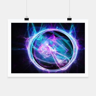 Miniatur Through the Viewfinder Abstract Fractal Art Design Poster, Live Heroes