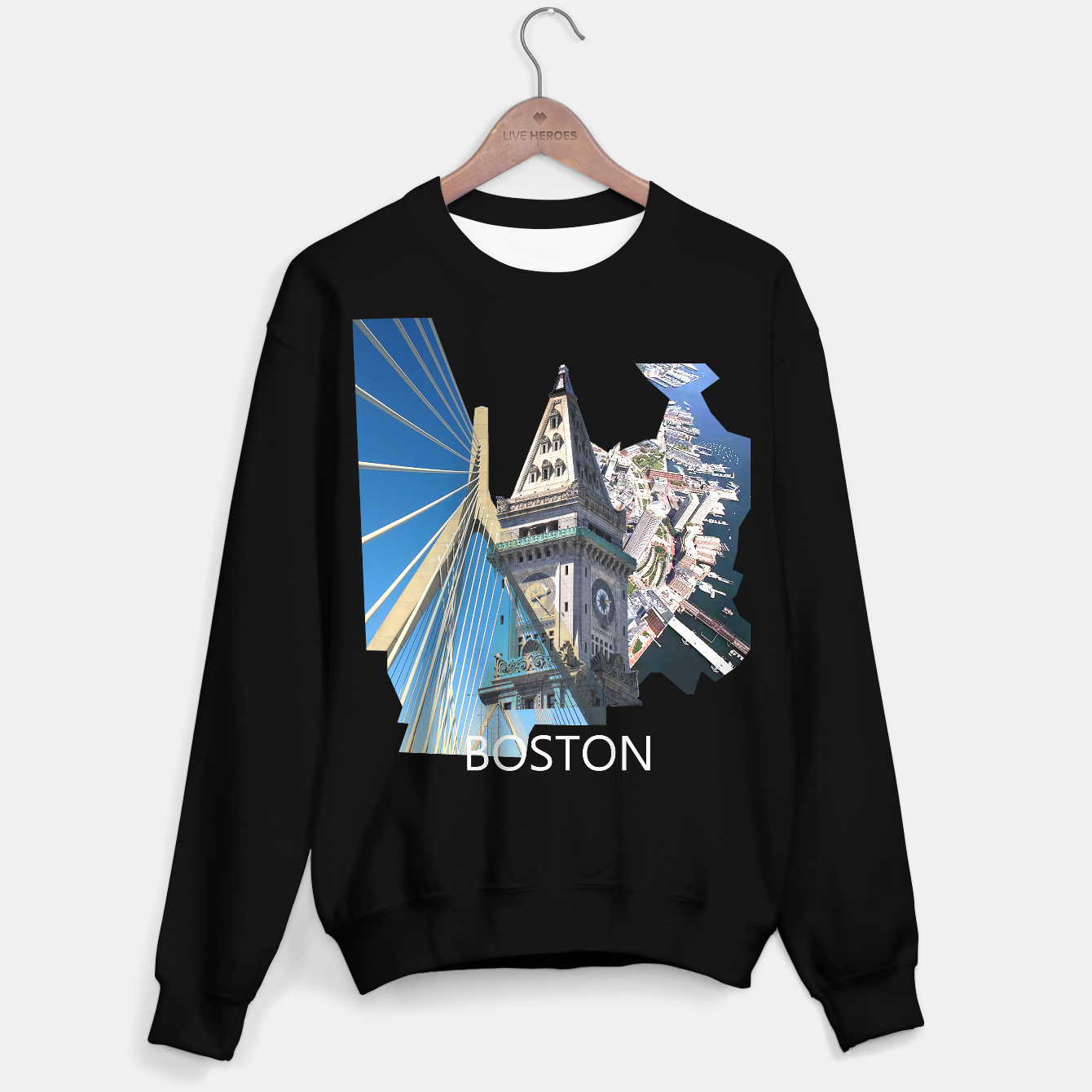 Image of Boston Clock Tower Bridge Sweater regular - Live Heroes