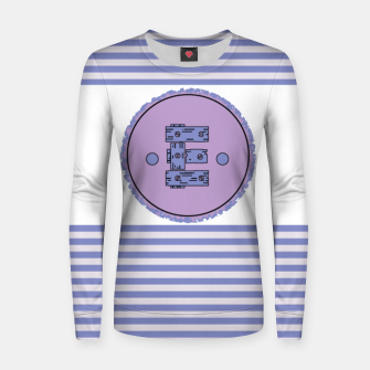 Thumbnail image of Wooden Boards Monogram Purple Striped  Women sweater, Live Heroes