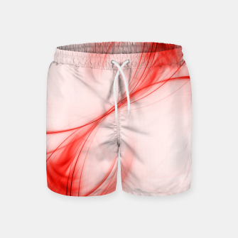 Thumbnail image of Tomato Red Pulsar Abstract Fractal Art Design Swim Shorts, Live Heroes