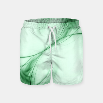 Thumbnail image of Light Green Pulsar Abstract Fractal Art Design Swim Shorts, Live Heroes