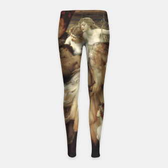 Miniaturka The Lament for Icarus by Herbert James Draper Girl's leggings, Live Heroes