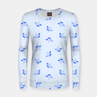 Thumbnail image of simple floral leaves seamless pattern 01 blue Women sweater, Live Heroes