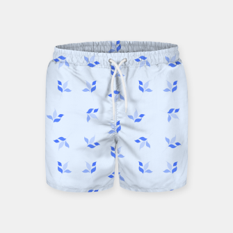 Thumbnail image of simple floral leaves seamless pattern 01 blue Swim Shorts, Live Heroes