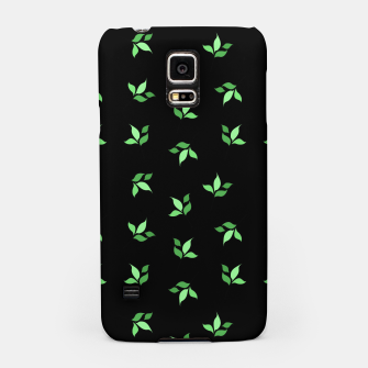 Thumbnail image of simple floral leaves seamless pattern 01 deep green on black Samsung Case, Live Heroes