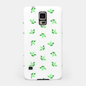 Thumbnail image of simple floral leaves seamless pattern 01 deep green on white Samsung Case, Live Heroes