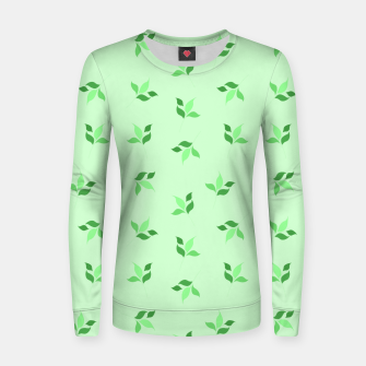 Thumbnail image of simple floral leaves seamless pattern 01 deep green Women sweater, Live Heroes