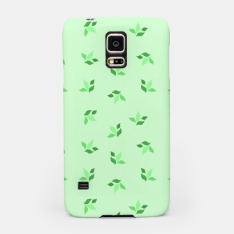 Thumbnail image of simple floral leaves seamless pattern 01 deep green Samsung Case, Live Heroes