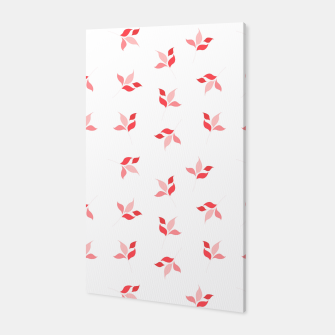 Miniature de image de simple floral leaves seamless pattern 01 deep red on white Canvas, Live Heroes