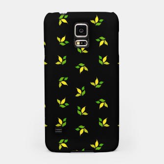 Thumbnail image of simple floral leaves seamless pattern 01 deep yellow on black Samsung Case, Live Heroes