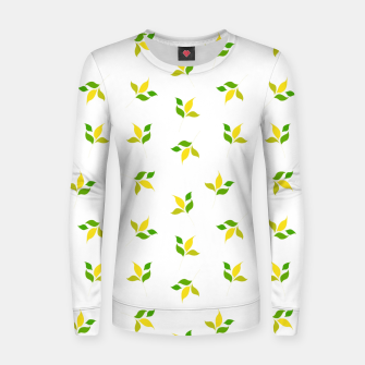 Thumbnail image of simple floral leaves seamless pattern 01 deep yellow on white Women sweater, Live Heroes