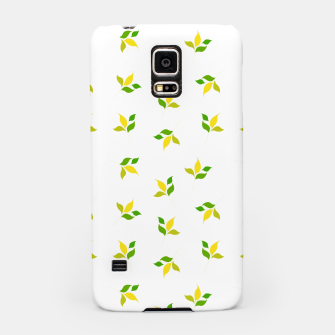 Thumbnail image of simple floral leaves seamless pattern 01 deep yellow on white Samsung Case, Live Heroes