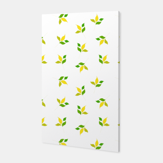 Miniature de image de simple floral leaves seamless pattern 01 deep yellow on white Canvas, Live Heroes