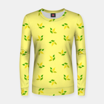 Thumbnail image of simple floral leaves seamless pattern 01 deep yellow Women sweater, Live Heroes