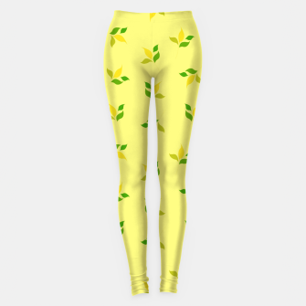 Thumbnail image of simple floral leaves seamless pattern 01 deep yellow Leggings, Live Heroes