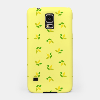 Thumbnail image of simple floral leaves seamless pattern 01 deep yellow Samsung Case, Live Heroes