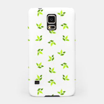 Thumbnail image of simple floral leaves seamless pattern 01 intensive green on white Samsung Case, Live Heroes