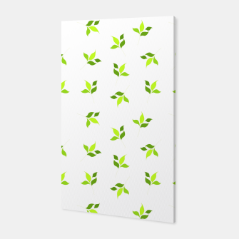 Miniature de image de simple floral leaves seamless pattern 01 intensive green on white Canvas, Live Heroes