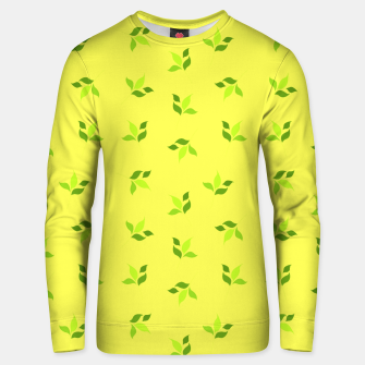 Thumbnail image of simple floral leaves seamless pattern 01 intensive green Unisex sweater, Live Heroes