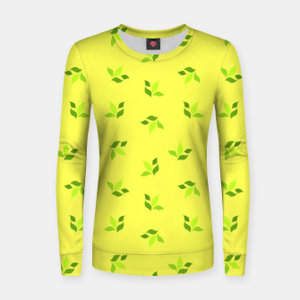 Thumbnail image of simple floral leaves seamless pattern 01 intensive green Women sweater, Live Heroes
