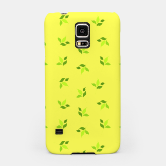 Thumbnail image of simple floral leaves seamless pattern 01 intensive green Samsung Case, Live Heroes