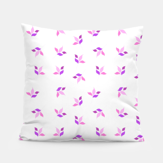 Miniaturka simple floral leaves seamless pattern 01 pink on white Pillow, Live Heroes