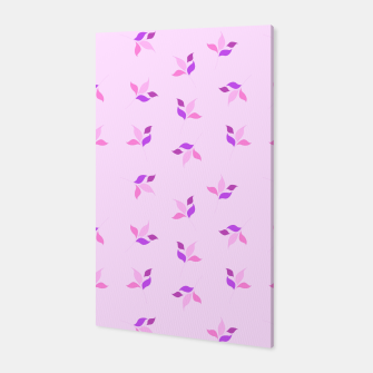 Miniaturka simple floral leaves seamless pattern 01 pink Canvas, Live Heroes