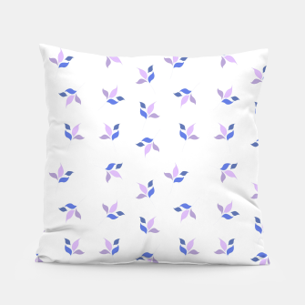 Thumbnail image of simple floral leaves seamless pattern 01 purple on white Pillow, Live Heroes