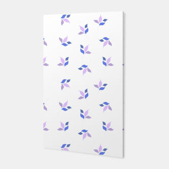 Thumbnail image of simple floral leaves seamless pattern 01 purple on white Canvas, Live Heroes