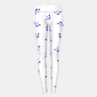 Thumbnail image of simple floral leaves seamless pattern 01 purple on white Leggings, Live Heroes