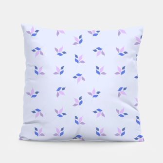 Thumbnail image of simple floral leaves seamless pattern 01 purple Pillow, Live Heroes