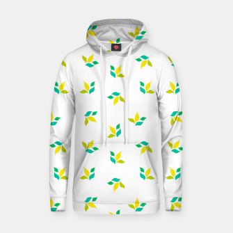Thumbnail image of simple floral leaves seamless pattern 01 on white Hoodie, Live Heroes