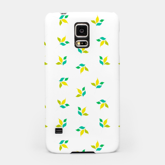 Thumbnail image of simple floral leaves seamless pattern 01 on white Samsung Case, Live Heroes