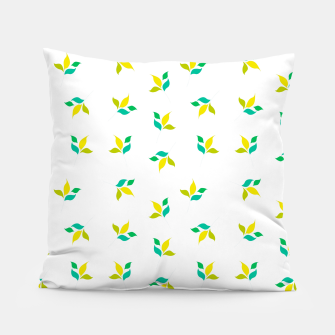 Thumbnail image of simple floral leaves seamless pattern 01 on white Pillow, Live Heroes